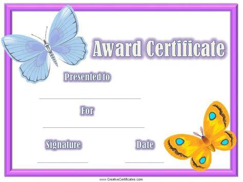 certificates  kids mnjvlkb awards pinterest
