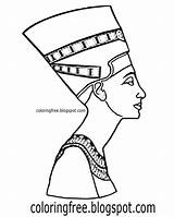 Egyptian Drawing Queen Egypt Map Sarcophagus Coloring Pages Printable King Tut Getdrawings sketch template