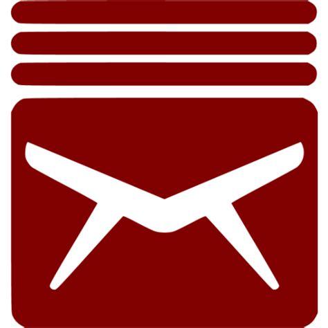 inbox icon white maroon inbox 7 icon free maroon inbox icons