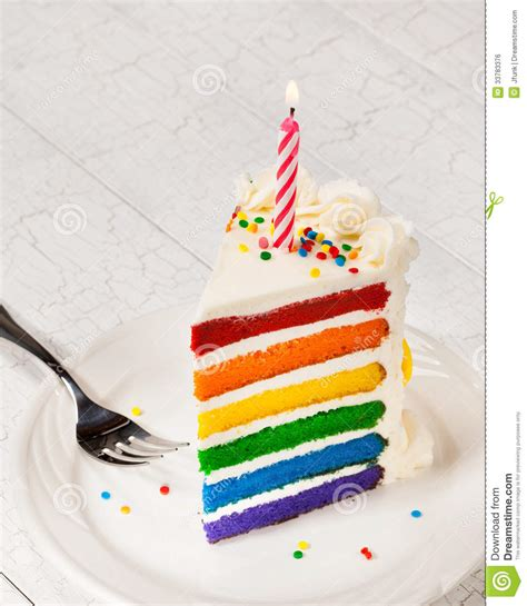 Slice Of Birthday Cake Stock Photo Image Of Gourmet