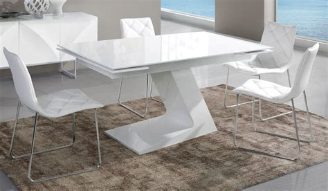table manger extensible blanc laqu design arta
