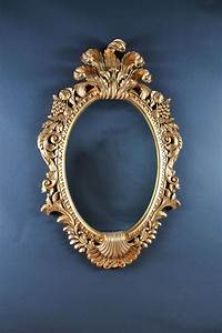Solid, Mahogany, Mirror, With, Gold, Leaf, Hand, Carved, Beveled, Glass
