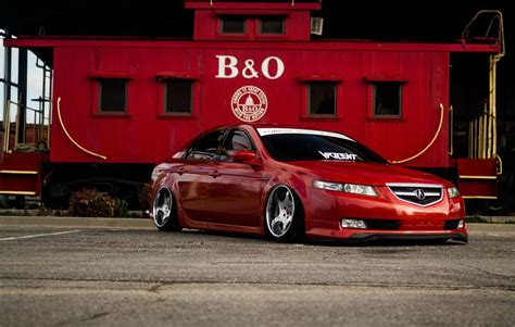 acura tl lowered  weds bazreia    squared wheels