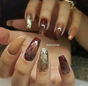 Autumn acrylic nail art designs ideas fall
