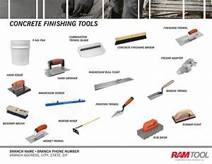 Concrete finishing tools by Ram Tool Construction Supply
