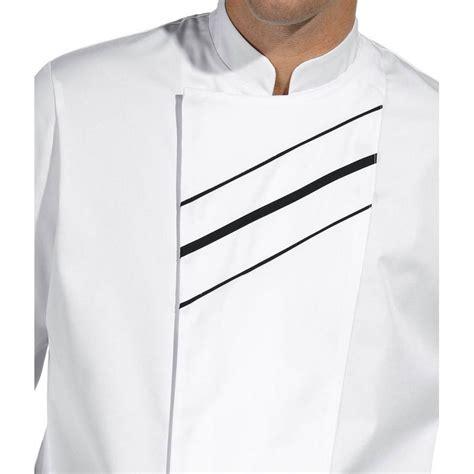vestes de cuisine veste de cuisine passepoil contrastant sur le devant