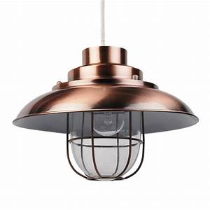 Contemporary, Copper, Fishermans, Ceiling, Light, Pendant, Shade, Lampshade, Industrial