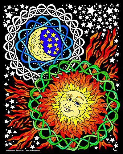 sun  moon  fuzzy velvet coloring poster import