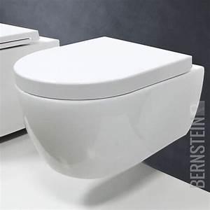 Hänge Wc : bernstein sp lrandlos design wand h nge wc toilette tiefsp ler soft close sitz ebay ~ Eleganceandgraceweddings.com Haus und Dekorationen