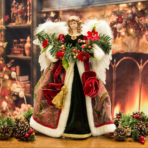 luxury angel christmas tree topper ornament 41cm