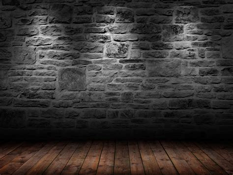 black wood floor  handpicked brick wallpapers