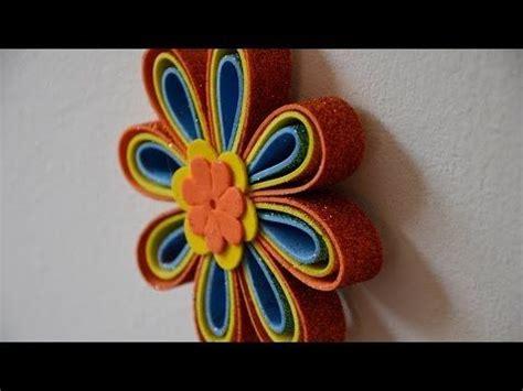 Flores de goma eva o foamy para adornar macetas fofucha