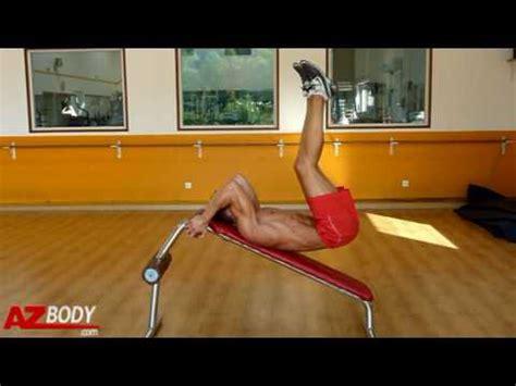 Abdos Sur Banc Incliné by Musculation Des Abdominaux Crunch Invers 233 Sur Plan