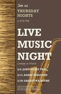 Live Music Event Flyer Tabloid | Restaurant Flyer