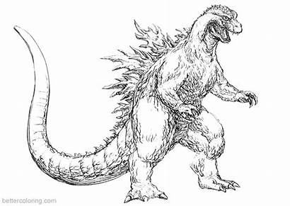 Godzilla Coloring Pages Fan 2000 Printable Adults