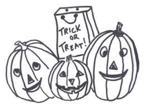 Trick Or Treat Coloring Page & Coloring Book