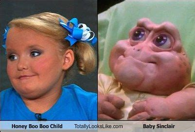 Baby Sinclair Meme - honey boo boo child totally looks like baby sinclair the tango