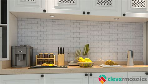Kitchen Backsplash Stick On Tiles by Peel N Stick Self Adhesive Tile Backsplash Mosaic Home