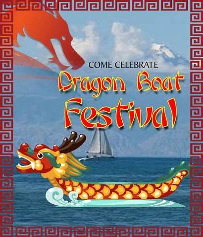 Festival Dragon Boat Celebrate Greetings Ecard Card