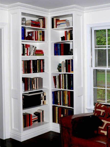 custom  built  corner bookcases bookshelves built