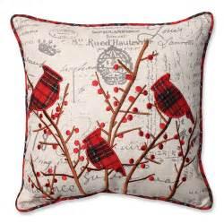pillow perfect holiday embroidered cardinals throw pillow reviews wayfair