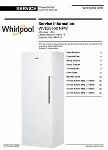 Whirlpool Wve26552 Nfw Freezer Service Manual And
