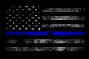 BAO Tactical - Thin Blue Line Subdued American Flag ...
