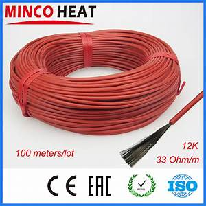 New Infrared Heating Cable System 3mm Silicone Carbon Fiber Heating Wire With Tubes For Warm