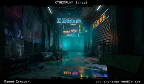 cyberpunk street unreal engine  polycount