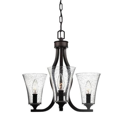 single chandelier feiss marteau 3 light rubbed bronze single tier