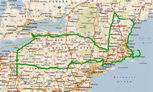 New England States Road Map