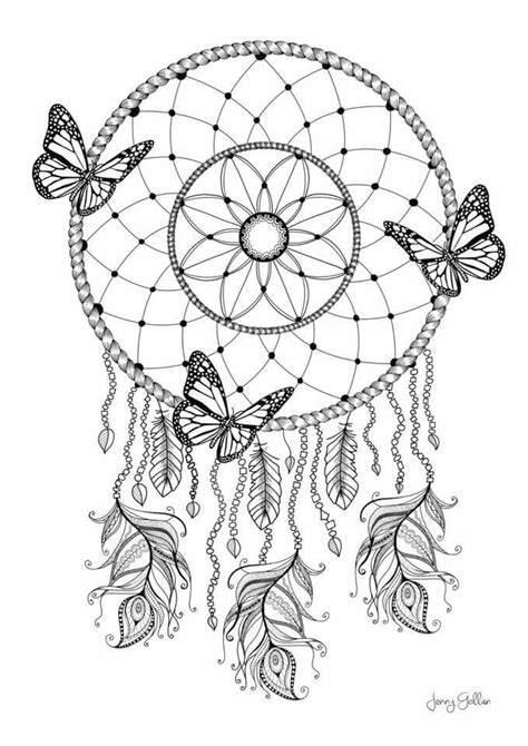 Dream Catcher Coloring pg | Dream catcher coloring pages, Butterfly coloring page, Mandala
