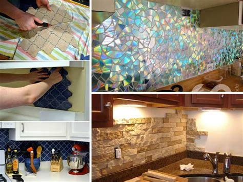 cheap diy kitchen ideas 24 low cost diy kitchen backsplash ideas and tutorials