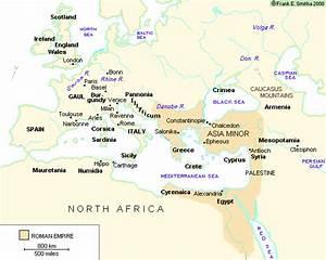 Map Of The Roman Empire  500 Ce