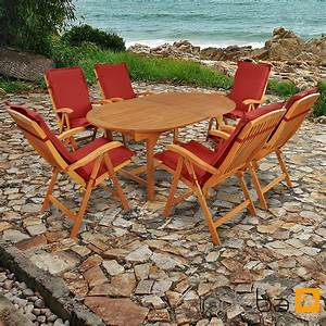 Gartenmöbel Set Sale : gartenm bel set 13 teilig sun flair mit auflagen premium rot ~ Whattoseeinmadrid.com Haus und Dekorationen