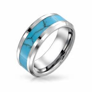 blue turquoise rings for tungsten rings for wedding ring us sizes 6 to 14 in rings - Mens Turquoise Wedding Rings