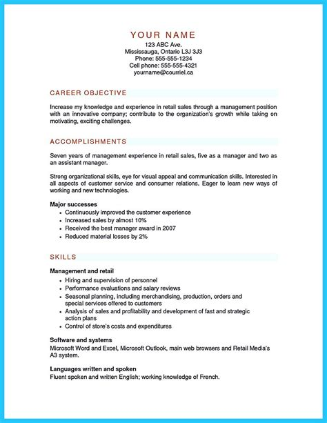 Resume Format For Assistant Manager by Crafting A Great Assistant Store Manager Resume