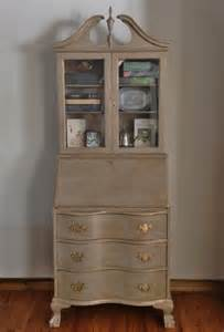 sold vintage antique mahogany secretary desk hutch