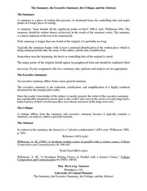 executive summary   format