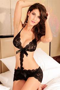 Love Affair Black Lace Teddy Lingerie [LC3137] - $14 99