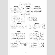 Trigonometric Identities Worksheet Homeschooldressagecom