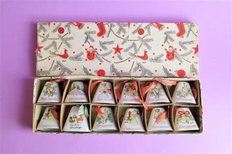japanese ceramic christmas ornament 1950 vintage 1950s porcelain bell ornaments made in japan set of 12 in box euphoria