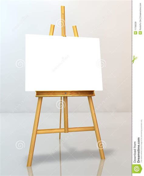 blank canvas  easel royalty  stock  image