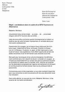 Exemple Lettre De Motivation Bts : lettre de motivation bts tourisme alternance mod le de lettre ~ Medecine-chirurgie-esthetiques.com Avis de Voitures