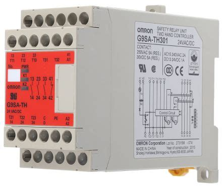 g9sa th301 ac dc24 g9sa th safety relay dual channel 24 v ac dc 3 safety 1 auxiliary omron