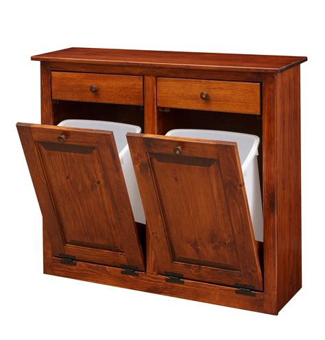 double tilt  trash recycling cabinet