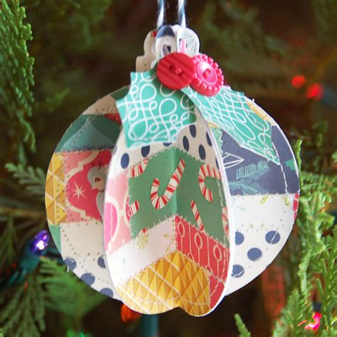 october afternoon tuesday tutorial 3d christmas ornament