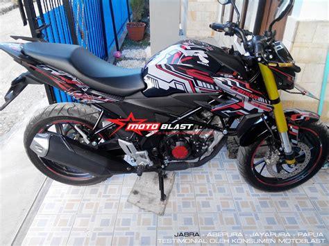 Modif Striping New Cb150r Hitam Merah by Testimonial Decal Cb150r Black Motoblast