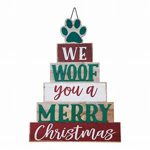Holiday, Time, Festive, Furry, Friend, Wall, Sign, 15, U0026quot, -, Walmart, Com