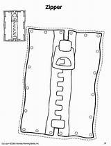 Coloring Zipper Rectangle Template sketch template